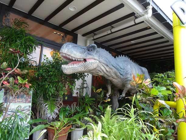 やんばる亜熱帯の森 入口の恐竜